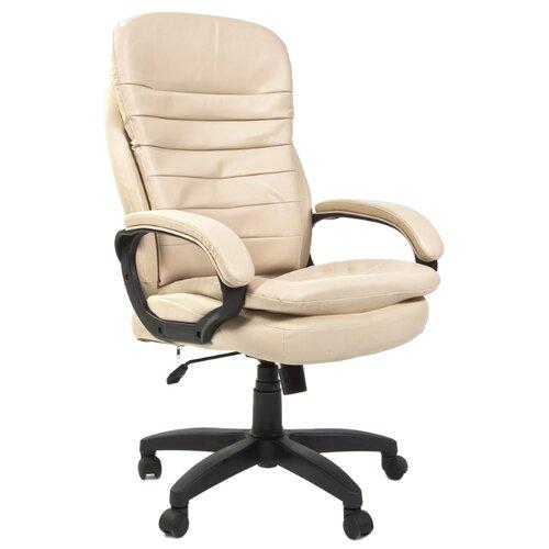 Компьютерное кресло Chairman 795 LT для руководителя, обивка: искусственная кожа, цвет: бежевый компьютерное кресло tetchair барон обивка искусственная кожа цвет бежевый
