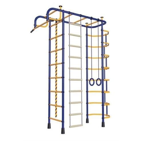 Купить Спортивно-игровой комплекс Пионер 2М синий/желтый, Игровые и спортивные комплексы и горки