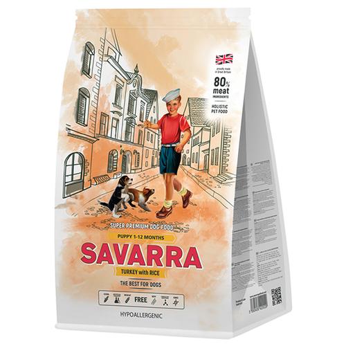 Фото - Сухой корм для щенков SAVARRA индейка, с рисом 1 кг сухой корм для щенков savarra индейка с рисом 3 кг