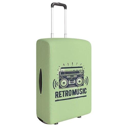 Чехол для чемодана JoyArty Ретро музыка S, бежевый, коричневый, черныйЧемоданы<br>