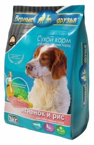 Корм для собак Верные друзья Сухой для средних пород - Ягненок и рис (3 кг)