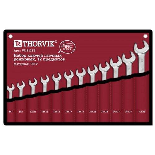 Фото - Набор гаечных ключей Thorvik W1S12TB, 12 предм. набор гаечных ключей thorvik 6 предм orws006