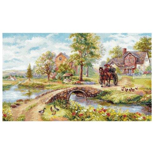 Купить Алиса Набор для вышивания крестиком Воскресная прогулка 51 х 31 см (3-25), Наборы для вышивания
