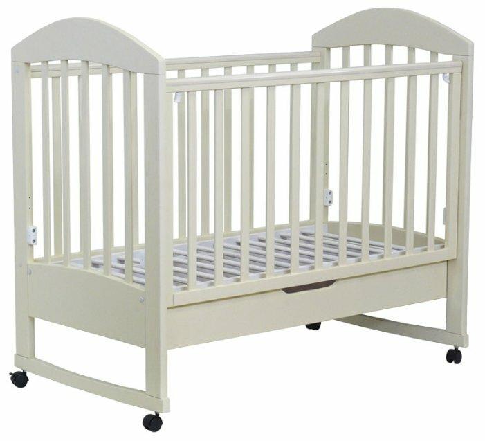Кроватка Топотушки Дарина-4 (колесо, качалка, ящик)