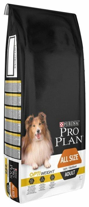 Корм для стерилизованных собак Pro Plan Optiweight курица с рисом 14 кг — купить по выгодной цене на Яндекс.Маркете