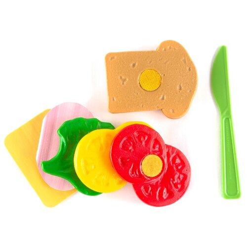 Набор продуктов с посудой Пластмастер Бутерброд 21031 разноцветный набор посуды пластмастер чайный 21001 разноцветный