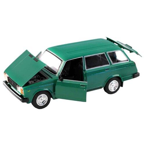 Легковой автомобиль Автопанорама Мировые легенды ВАЗ 2104 1:24 зеленый легковой автомобиль автопанорама мировые легенды ваз 2104 1 24 бежевый