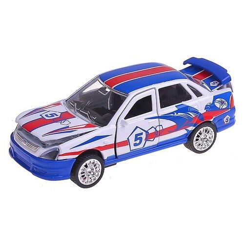 Легковой автомобиль ТЕХНОПАРК Lada Priora (CT12-440-6) 1:43 белый/синий/красный