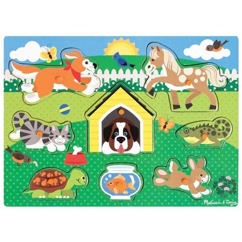 Купить Рамка-вкладыш Melissa & Doug Домашние животные (9053), 8 дет., Пазлы