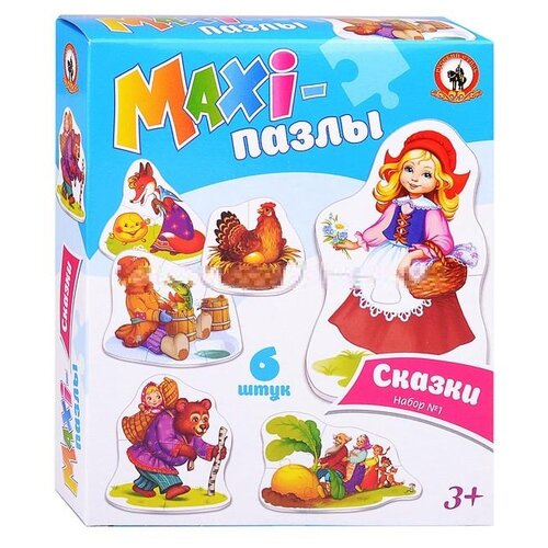 Набор пазлов Русский стиль Maxi Сказки набор № 1 (02548)Пазлы<br>