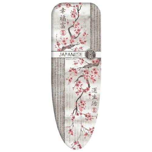Чехол для гладильной доски Valiant Japanese Collection средний 130х47 см Japanese White