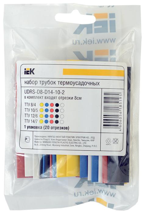 Трубка усаживаемая (термоусадочная/холодной усадки) IEK UDRS-D2-D8-10-3 мм