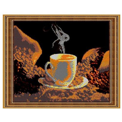 Светлица Набор для вышивания бисером Кофейный аромат 30 х 24 см, бисер Чехия (334)