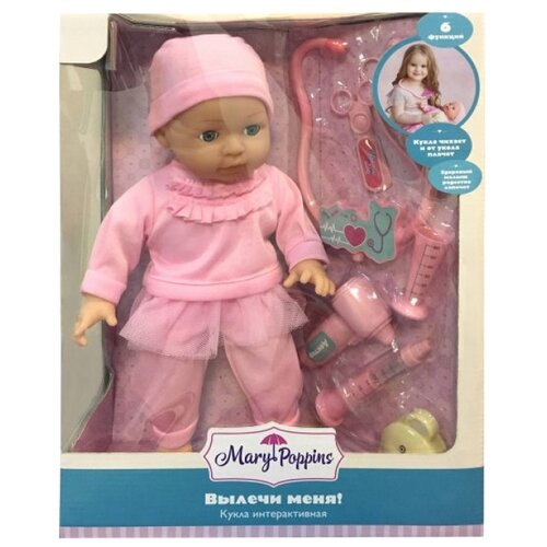 Купить Интерактивная кукла Mary Poppins Вики Вылечи меня 38 см 451278, Куклы и пупсы