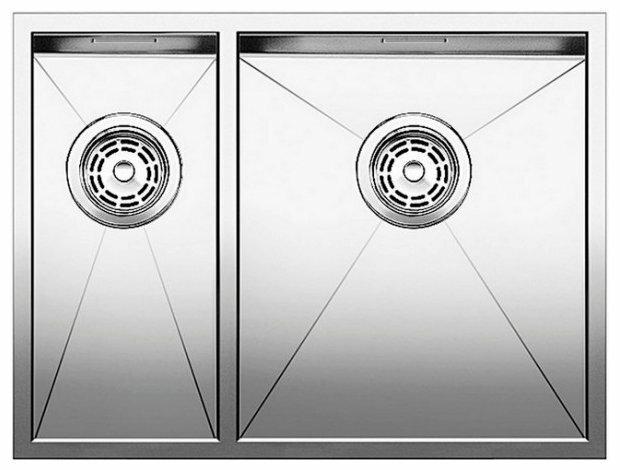 Интегрированная кухонная мойка Blanco Zerox 340/180-IF 60.5х51см нержавеющая сталь