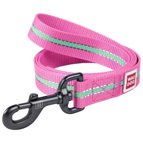 Поводок для собак WAU DOG Nylon розовый 1.22 м 15 мм