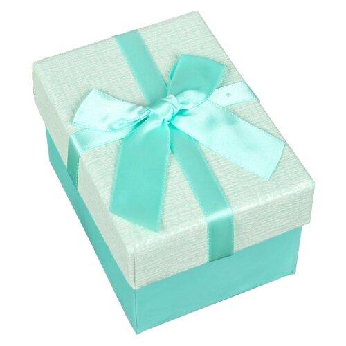 Коробка подарочная Yiwu Zhousima Crafts прямоугольная с бантом 10 х 6 х 7.5 см бирюзовый