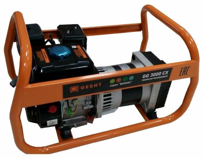 Бензиновый генератор Gesht GG3000CX (2500 Вт)
