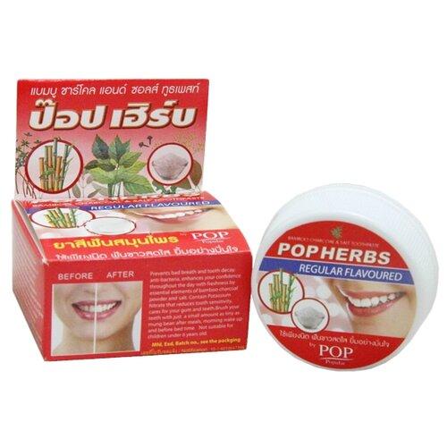 Зубная паста POP Popular Растительная с бамбуковым углем и соль, 30 г