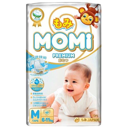 Momi подгузники Premium M (6-11 кг) 60 шт.