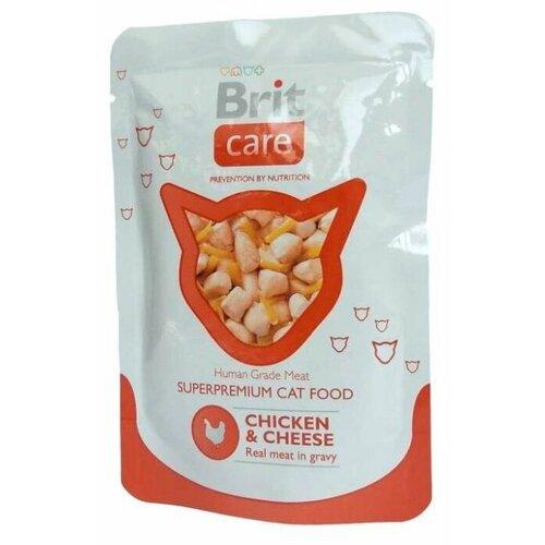 Фото - Корм для кошек Brit Care с курицей 80 г (мини-филе) лакомство для собак brit let s bite fillet o duck филе утки 80 г