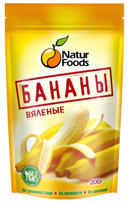 Бананы Naturfoods вяленые 200г