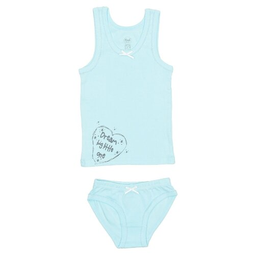 Купить Комплект нижнего белья RuZ Kids размер 128-134, арктический голубой, Белье и купальники