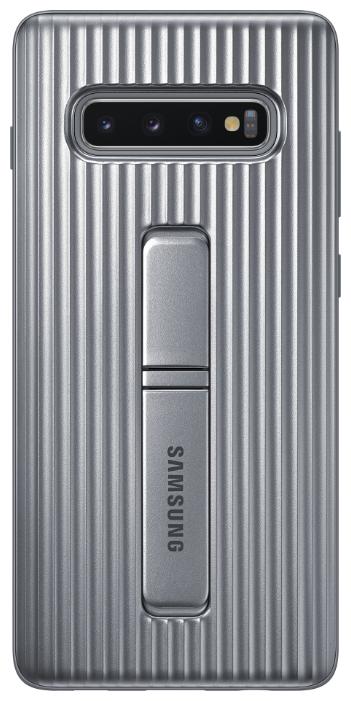 Чехол (клип-кейс) Samsung для Samsung Galaxy S10+ Protective Standing Cover серебристый (EF-RG975CSEGRU)