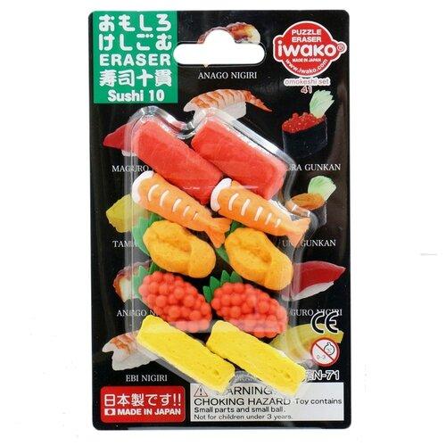 IWAKO Набор ластиков Sushi 10 ассорти