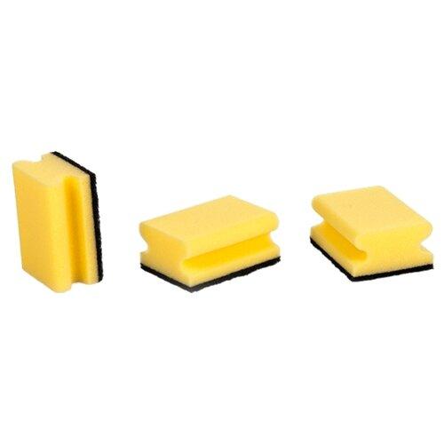 Губка Tescoma Clean Kit с петелькой 3 шт желтый/черныйТряпки, щетки, губки<br>