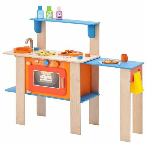 Купить Кухня PAREMO PK115/PK115-01/PK115-02 оранжевый/голубой/коричневый, Детские кухни и бытовая техника