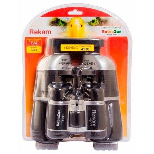 Фото - Бинокль Rekam Robinzon Travel KIT 7x50 4x30 черный бандаж послеродовый фэст 1248 размер 108 черный