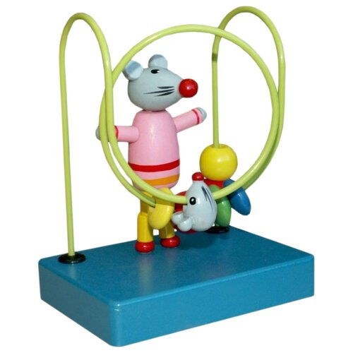 Купить Лабиринт РИД Мышка синий/зеленый/розовый/желтый/серый, Развитие мелкой моторики