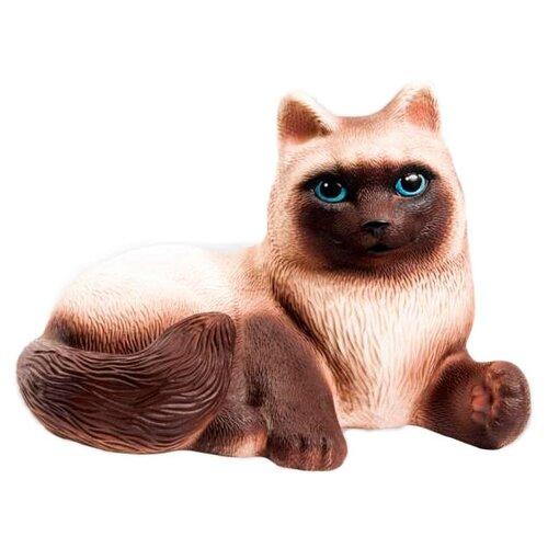 Купить Игрушка для ванной ОГОНЁК Кошка Сиамка (С-631) коричневый, Игрушки для ванной