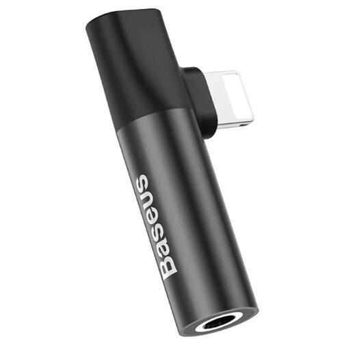 Купить Переходник Baseus Lightning (M) - Lightning (F) + jack 3.5mm (F) black