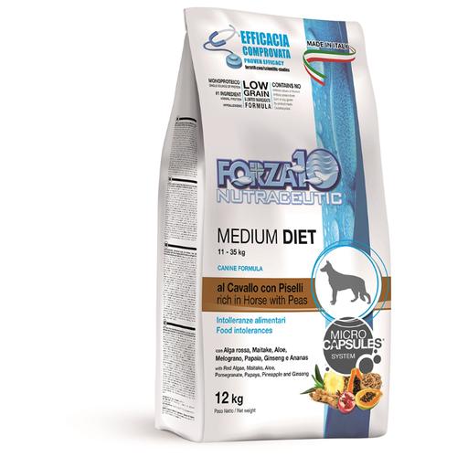 Сухой корм для собак Forza10 Diet конина с горошком 12 кг (для средних пород)