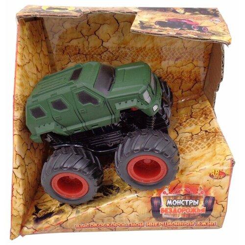 Монстр-трак ABtoys Монстры бездорожья (C-00190) зеленый/черный/красный, Машинки и техника  - купить со скидкой