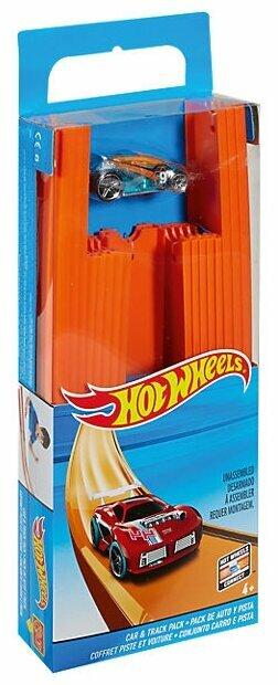 Трек Hot Wheels Конструктор трасс: 4 метра + машинка BHT77