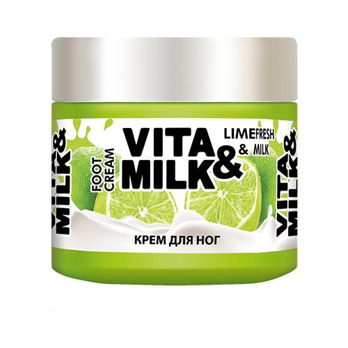 Vita & Milk Крем для ног Лайм и молоко 150 мл баночка