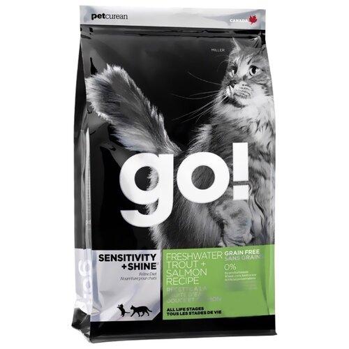 Корм для кошек GO! Sensitivity + Shine беззерновой, с лососем, с форелью 7.26 кг