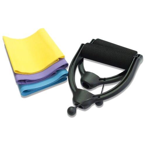 Эспандер лента 3 шт. HouseFit 6625 фиолетовый/голубой/желтый батут housefit в7109 8 в7109 8 page 4