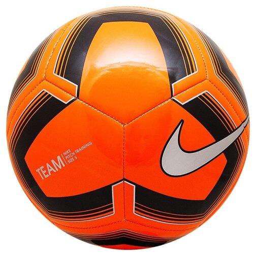 Футбольный мяч NIKE Pitch Training SC3893 черный/оранжевый 5Мячи<br>