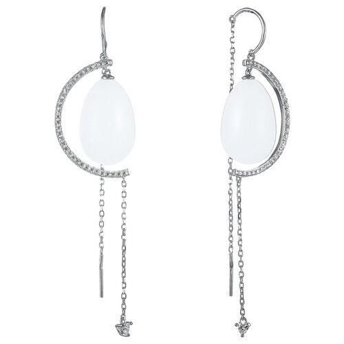 JV Серьги с стеклом и фианитами из серебра E26952-B2-SR-QZ-001-WG