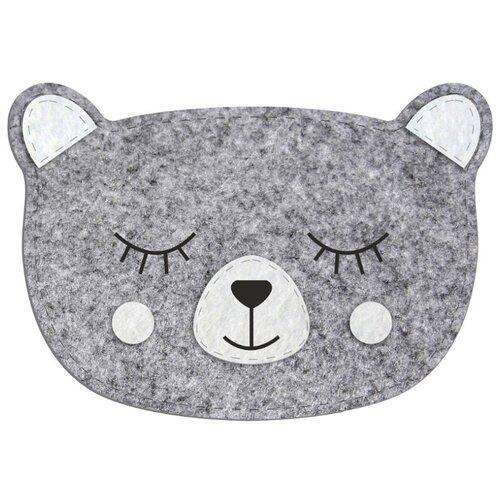 Купить Feltrica Пенал Медведь 6 серый, Пеналы