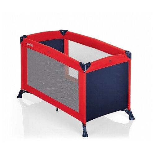Манеж-кровать Brevi Travel B red/navy манеж кровать joie kubbie sleep foggy gray