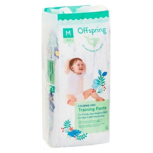 Купить Offspring трусики M (6-11 кг) 42 шт. рыбки, Подгузники
