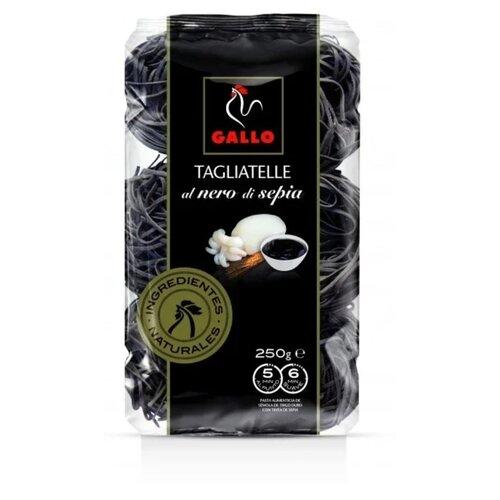 Gallo Макароны Tagliatelle гнезда пшеничные с чернилами каракатицы, 250 г gallo макароны integral plumas rayadas перья 500 г