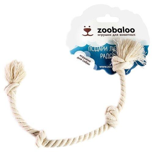 Канат для собак Zoobaloo Грейфер Четыре узла 28см белыйИгрушки для кошек и собак<br>
