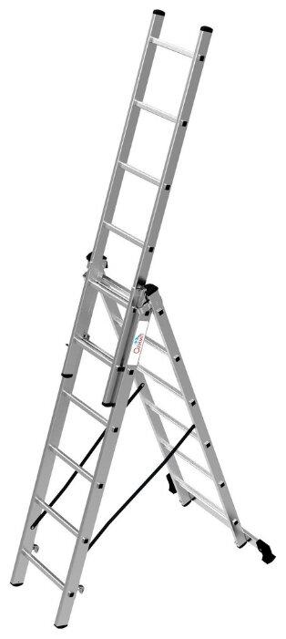 Лестница телескопическая 3-секционная ОЛИМП 1230306 A