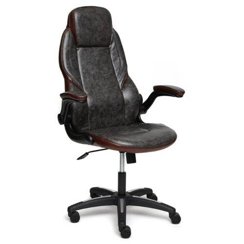 Компьютерное кресло TetChair Bazuka офисное, обивка: искусственная кожа, цвет: серый/коричневый компьютерное кресло tetchair jazz офисное обивка искусственная кожа цвет бежевый коричневый 4230